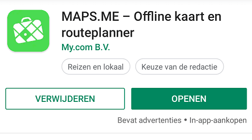 Maps.me app for the camino