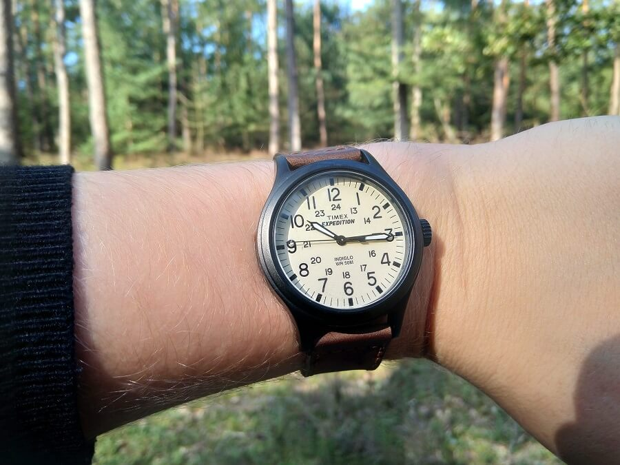 Timex expedition on the wrist
