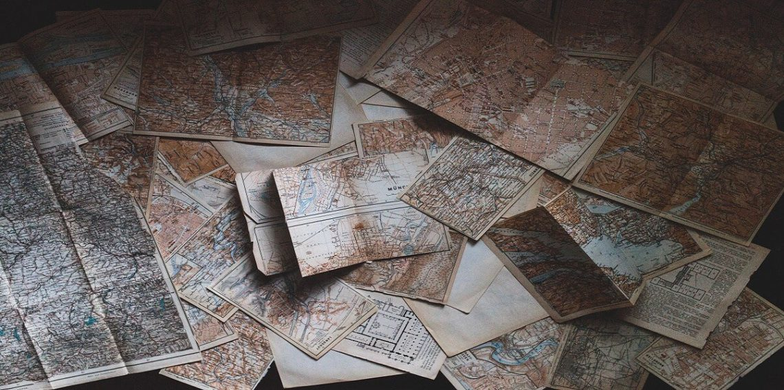 Maps on floor